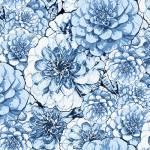 Once in a Blue Mood - Large Floral