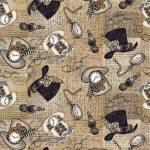 Unknown Voyage - Hüte - Zylinder - mit Uhren by Blank Quilting