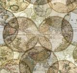 Seven Seas - Worldmap Landkarte allover by Windham Fabrics