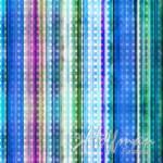 SCHLANKER BALLEN 1 Meter Hoffman Dotted Stripe Dragonfly - Multicolor blau #324