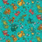 Whirly Gig Magic  - lustige Drachen und Libellen auf  Türkis - Henry Glass