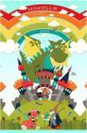 Whirly Gig Magic Paneel 60 x 110 cm Drachen Ritter Zauberer und Burg - Henry Glass