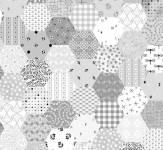 FADE IN Marcus Fabrics - Hexagone dunkelgrau