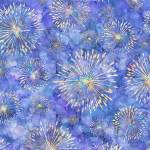 Botanica - Quilting Treasures - blaue Pusteblumen