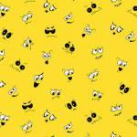 I Spy - lustige Augen und Gesichter auf Gelb - Henry Glass