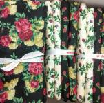 Fat Quarter Paket NIGHT ROSE SHADE - 4 Fat Quarter - 1 Meter