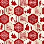 Home for the Holidays - Sechsecke - Studio E Fabrics