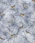 .Timeless Treasures WINTER CHICKADEES Wintermeisen