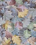 Timeless Treasures MULTICOLORED LARGE WINTER LEAVES