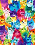 .Painted Bright Cats - Timeless Treasures - .