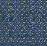 Marcus Fabrics - Full Circle - Planted Seeds - Kreise in Ocker auf Blau