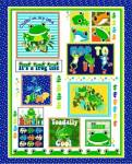 Toadally Frogs - FIXPACKUNG mit 90 x 110 cm Top Rückseite und Binding