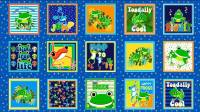 Toadally Frogs - 15 Paneele pro Stoffpaneel -