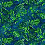 MINIBALLEN 0,70 m Butterfly Paradise - grüne Blätter auf blauem Marble - Elizabeth´s Studio