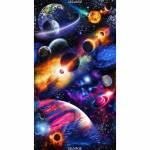 Midnight Bright SOLAR SYSTEM - Timeless Treasures 61 x 110 cm
