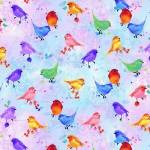 Blossom PASTEL BIRDS - Timeless Treasures