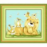 LYON the Lion - Paneel Querformat von Susybee