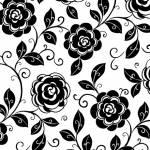 Opposites Attract - Black Flower - QT Fabrics Blüten auf Weiss