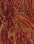 PALAZZO - Timeless Treasures - Marble rot ocker orange metallic