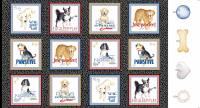 Think Pawsitive - 60 x 110 cm Paneel mit Hunden - Benartex