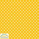 Mustard Dots - Tupfen auf mattem Senfgelb - STOF Denmark
