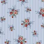 Flowers of Provence - Henry Glass - Rosen auf blauem Streif
