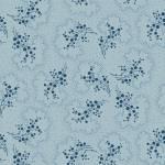 Indigo Cottage - Henry Glass - blaue Blütenrispen auf hellblau