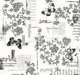 Happiness - 108 Inch - 274 cm SCHWARZ - Rückseitenstoff überbreit Marcus Fabrics