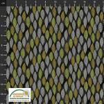 Filippas Line - Blätter auf Schwarz in Ocker Grau Gelb