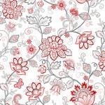 Scarlet Stitches - Vines - Blumen und Ranken auf Weiss- Henry Glass