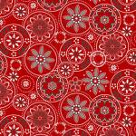 Scarlet Stitches - Medallions - Kreismotive auf Rot - Henry Glass