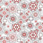 Scarlet Stitches - Medallions - Kreismotive auf Weiss - Henry Glass