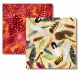Hummingbird Garden -  Feathers - Fat Quarter Paket mit 2 Fat Quartern