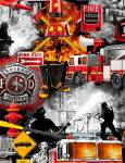 Fire and Rescue - Timeless Treasures - Feuerwehr