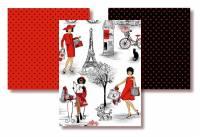 PARIS Mon Amour - Stoffpaket mit 1 Meter Inhalt Timeless Treasures