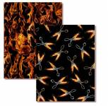 On Fire - 2 x 0,5 Meter - Flaming Scissors und Fire and Flames